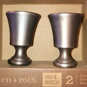 NEW Allen and Roth Finials Brushed Silver